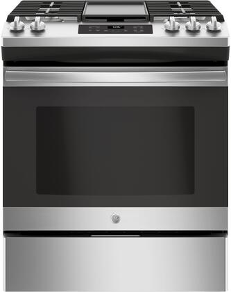 GE JGSS66SELSS 30 Inch Stainless Steel Slide-in Gas Range with ...