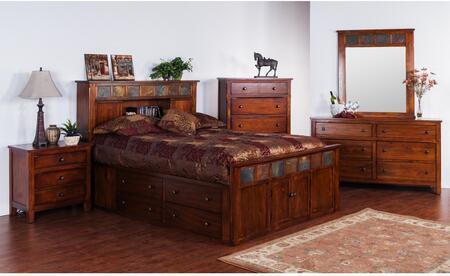 Sunny Designs 2334DCSQBDMNC Santa Fe Queen Bedroom Sets