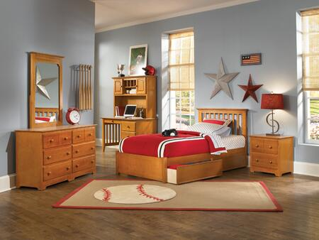 Atlantic Furniture SMISSIONFPFTWINAW Mission Series  Twin Size Bed