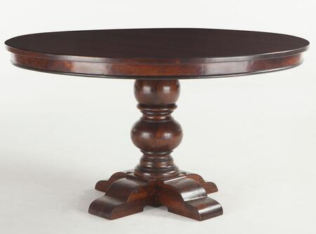 Home Trends & Design Pearl Grove ZWPAGO Round Dining Table with Hand-Turned Legs and Solid Mango Wood Construction in Brown Finish