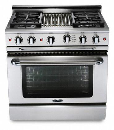 "Capital GSCR364QL 36"" PRECISION Series Gas Freestanding Range with Sealed Burner Cooktop, 4.6 cu. ft. Primary Oven Capacity, in Stainless Steel"