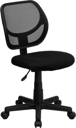 """Flash Furniture WA-3074-XX-GG 15.5"""" Mid-Back Mesh Task Chair and Computer Chair with 2"""" Thick Padded Mesh Seat, Pneumatic Seat Height Adjustment, Heavy Duty Nylon Base, and Dual Wheel Casters"""