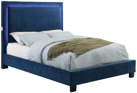 Furniture of America CM7695NVQBED Erglow I Series  Queen Size Bed