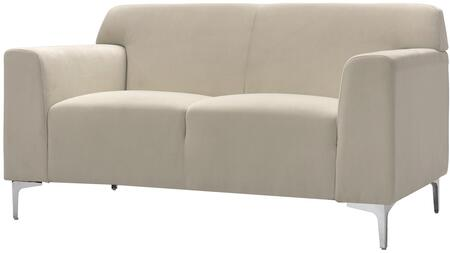 "Glory Furniture 59"" Loveseat with Compact Design, Removable Chrome Legs, Track Arms and Soft Velvet Cover in"