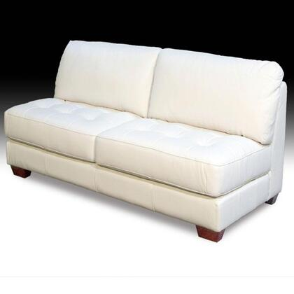 Diamond Sofa ZENARMLESSLOVEE Zen Series Leather Armless Sectional with Wood Frame Loveseat