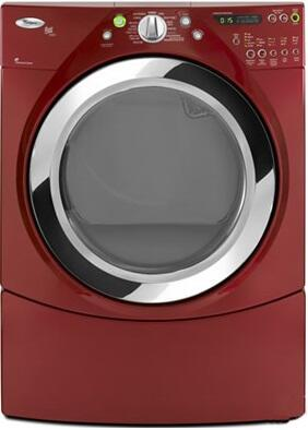 """Whirlpool WGD9750W Duet Steam 27"""" Gas Dryer with 7.5 cu. ft. Capacity, AccelerCare Drying System and Quick Refresh Steam Cycle,"""