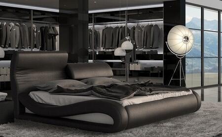VIG Furniture VGINCALEDONIABLKEK Modrest Caledonia Series  E King Size Platform Bed