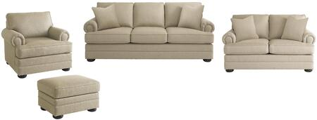 Bassett Furniture 3913FCFC1611SLCO Hyde Park Living Room Set