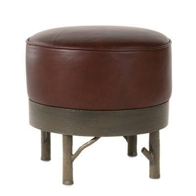 Stone County Ironworks 903120LTN Norfork Series Contemporary Leather Ottoman