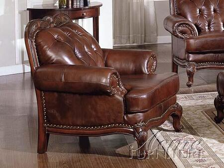 Acme Furniture 05947A Birmingham Series Chair Leather Wood Frame Accent Chair