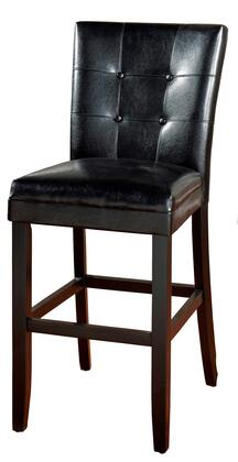 """American Heritage Apollo Series 1XX103 Transitional Stool with Comfortable 3"""" Cushion, Solid Wood Frame, and Floor Glides in Black Finish with Black Vinyl Upholstery"""