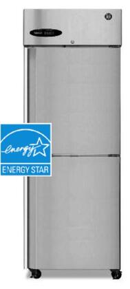 "Hoshizaki CR1BXX 28"" ENERGY STAR Refrigerator with 23.3 cu. ft. Capacity, LED Display, Door Lock, Energy Efficient, Full Stainless Steel Door, in Stainless Steel"