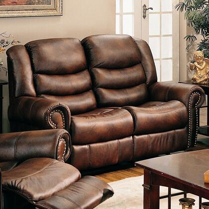 Coaster 600452 Faux Leather Reclining with Wood Frame Loveseat