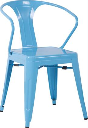 Chintaly 8023SCBLU 8023 Series Residential Not Upholstered Bar Stool