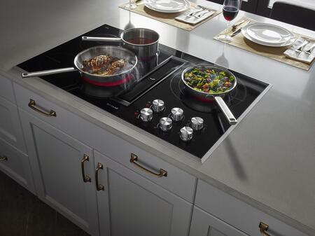"Jenn-Air JED3536G 36"" Electric Downdraft Cooktop with 5 Elements, Perimetric Extraction, 3 Fan Speeds, and Triple Choice Element, in"