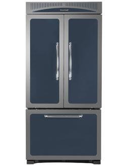 Heartland HCFDR20CBL Classic Series Counter Depth French Door Refrigerator with 19.8 cu. ft. Total Capacity 4 Glass Shelves