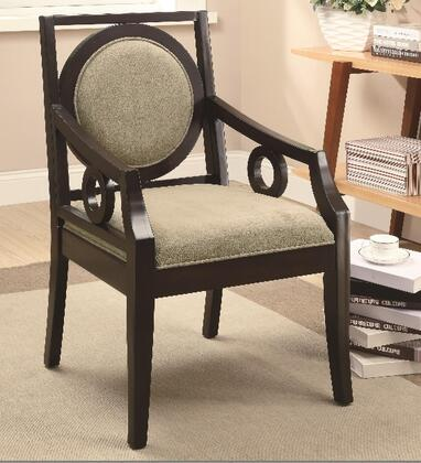 Coaster 902097 Accent Seating Series Fabric Wood Frame Accent Chair