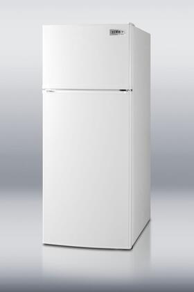 Summit FF1112W Freestanding Counter Depth Top Freezer Refrigerator with 10.3 cu. ft. Total Capacity 2 Wire Shelves