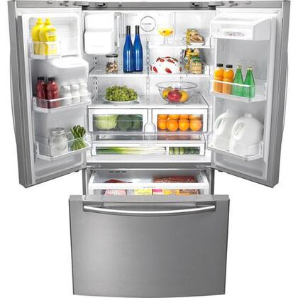 Samsung Appliance Rfg296hdrs French Door Refrigerator In