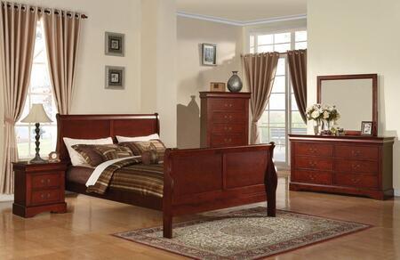 Acme Furniture 19520QDMCN Louis Philippe III Queen Bedroom S
