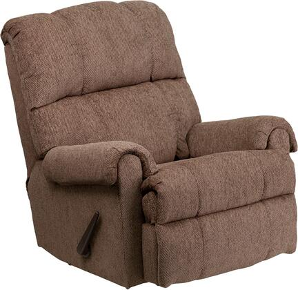 Flash Furniture WM8700210GG Contemporary Fabric Wood Frame Rocking Recliners