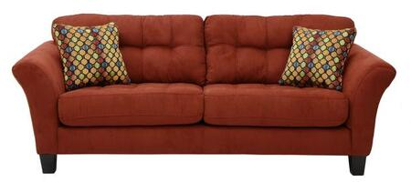 "Jackson Furniture Halle Collection 4381-03- 90"" Sofa with Flared Arms, Suede Like Fabric Upholstery and Tapered Legs in"