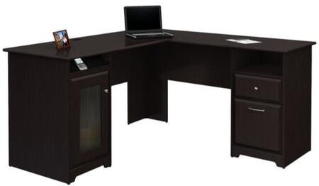 "Bush Furniture WC31X3003K Cabot Collection 60""W L-Desk"