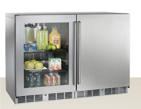 Perlick HP48RRS3L1R Signature Series Counter Depth Side by Side Refrigerator with 12.0 cu. ft. Capacity