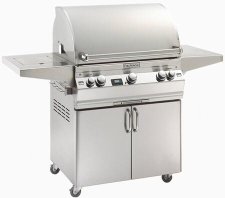 FireMagic A660S2E1P62 Freestanding Liquid Propane Grill with 3 |Appliances Connection