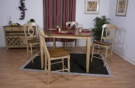 Sunset Trading DLUBR4848CBB50SRPW6PC Brook Dining Room Sets