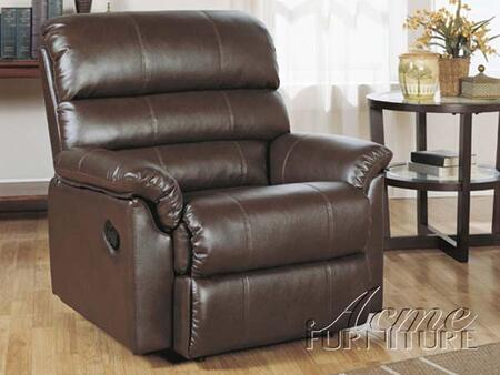 Acme Furniture 15113 Riva Series Contemporary Bonded Leather Wood Frame  Recliners