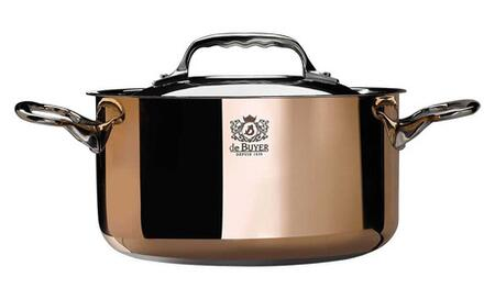 Eurodib 6242 Prima Matera Stew Pan by De Buyer With Ferro-Magnetic Bottom, 2 Riveted Handles In Cast Stainless Steel, Special Induction.