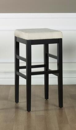 "Armen Living LCSTBAMFX26 26"" Sonata Stationary Bar stool with 1.8 Density Foam, Ebony Wood Frame and Microfiber Upholstery in"
