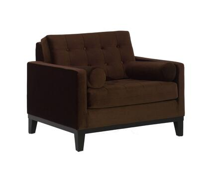 Armen Living LC7251X Centennial Sofa Chair with Mid-century Design, Button-tufting Detail and Fabric Upholstery in
