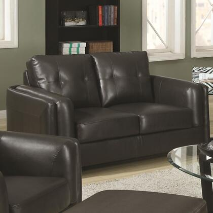 Coaster 504462 Sawyer Series Bonded Leather Stationary with Wood Frame Loveseat