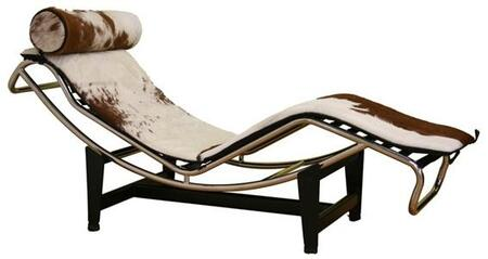 Wholesale Interiors 990ACHAIRBROWNWHITE Le Corbusier Series  Chaise Lounge