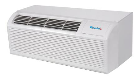 Klimaire KTHM012E3H 12,000 BTU PTAC Packaged Terminal Heat Pump Air Conditioner with 3kw Electric Heater, Quick Condenser, Electronic Controls, Optional Remote, and Easy-Clean Filter in White