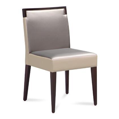 Domitalia ARIELS00DWE011W Ariel Series Contemporary Fabric Wood Frame Dining Room Chair