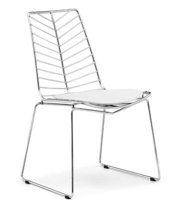 Zuo 188045 Wendover Series Modern Chrome Steel Frame Dining Room Chair