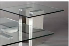 Chintaly SABRINALT Sabrina Series Modern Square End Table