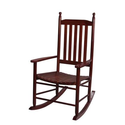 Gift Mark 3400 X Natural Wood Handcrafted Adult Tall Back Rocking Chair in
