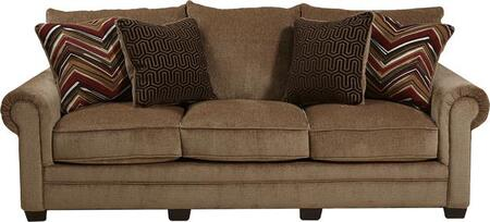 """Jackson Furniture Anniston Collection 4342-03- 96"""" Sofa with Chenille Fabric Upholstery, Four Toss Pillows and Reversible Seat Cushions in"""