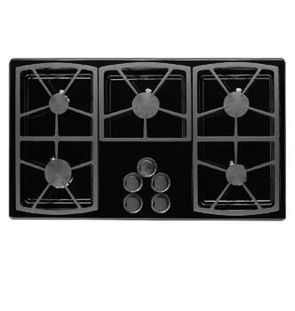 Dacor SGM365B Classic Series Natural Gas Sealed Burner Style Cooktop, in Black