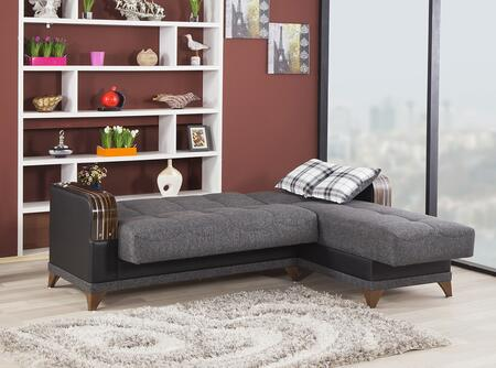 Elena Gray Sectional Bed