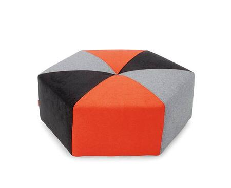 Innovation 760470C629626628 Sixtrees Series Contemporary Leather Ottoman
