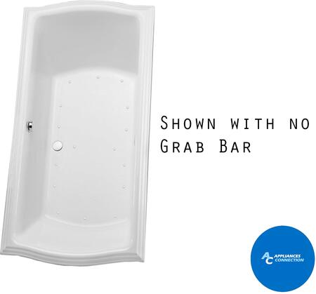 Toto ABR785S01Y Clayton Series Drop In Airbath Tub with Acrylic Construction, Slip-Resitant Surface, and Grab Bar, Cotton Finish