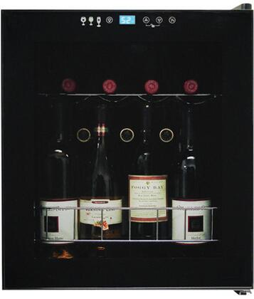 "Vinotemp VT15TS 17.125"" Freestanding Wine Cooler, in Black"