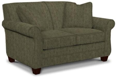 "Broyhill Greenwich 3676-1/8612 61"" Wide Loveseat with 2 Pillows Included, DuraCoil Seat Cushions and Tapered Feet in"