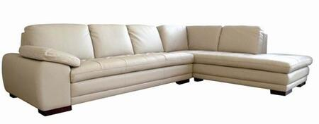 Wholesale Interiors 625-M9818-X Diana Series Sofa/Chaise Sectional in