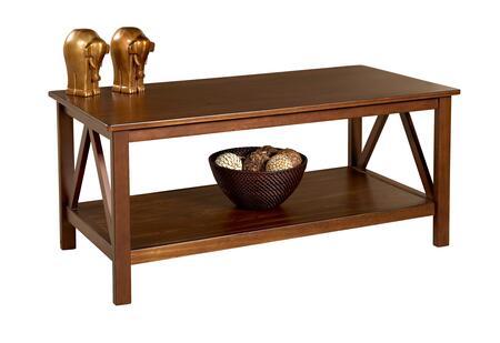 Linon 86151ATOB01KDU Antique Tobacco Contemporary Table